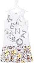 Kenzo Jungle print dress - kids - Cotton - 14 yrs