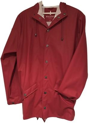 Rains Burgundy Trench Coat for Women