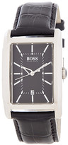 HUGO BOSS Men's HB1010 Croc Embossed Leather Strap Watch