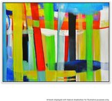 United Artworks Composition 11 Canvas Painting With Floating Frame