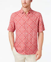 Tasso Elba Men's Mosaic Floral Silk and Linen Shirt, Created for Macy's