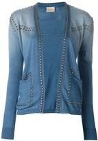 Laneus studded cardigan - women - Cotton/Aluminium - 46