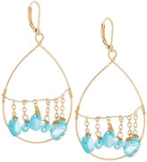 Fragments for Neiman Marcus Golden Dangling Briolette Wire Teardrop Earrings, Blue