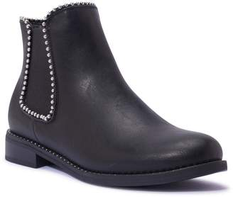 Linzi Truffle Collection Black Faux Leather Ankle Boots