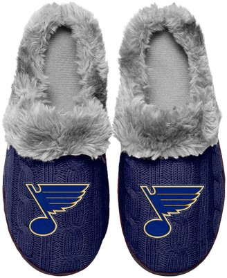 Women's St. Louis Blues Cable Knit Slide Slippers
