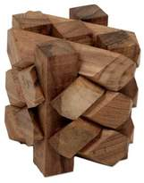 Artisan Crafted Recycled Teakwood Puzzle from Bali, 'Bizarre'