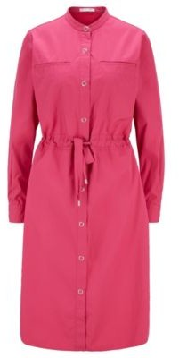 HUGO BOSS Relaxed-fit shirt dress in cotton with drawstring waist