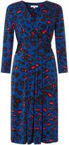 Issa Darcy Pleat Printed Detail Dress
