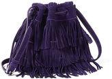 Polo Ralph Lauren Fringe Suede Mini Bucket Bag