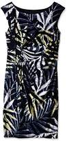 Connected Apparel Women's Palm Print Cap Sleeve Side Wrap Skirt