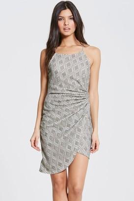 Girls On Film Grey Lace Dress
