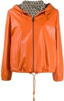 Salvatore Ferragamo reversible Gancini leather jacket