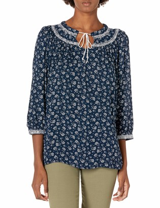 Nautica Women's Three-Quarter Sleeve Top
