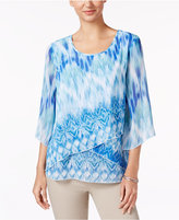 JM Collection Layered-Hem Printed Tunic, Only at Macy's