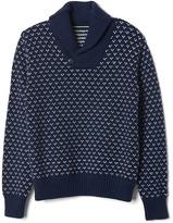 Gap Birdseye print shawl sweater