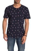 Public Opinion Short Sleeve Flamingo Print Pocket T-Shirt