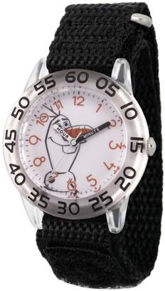 EWatchFactory Disney Frozen 2 Olaf Boy's Clear Plastic Time Teacher Watch 32mm