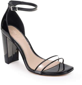 Badgley Mischka Keshia II Clear Ankle Strap Sandal