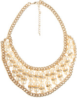 Arden B Chain Pearl Rhinestone Necklace