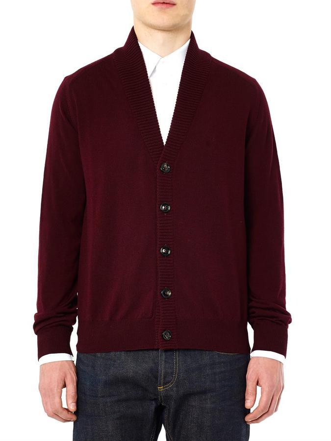 Maison Martin Margiela Sewn-down collar cardigan