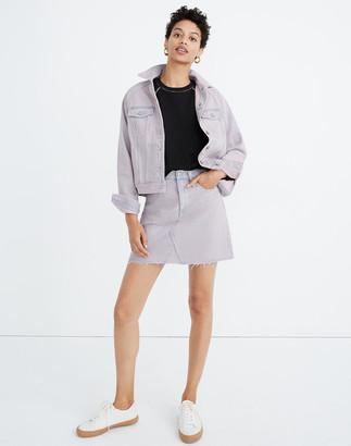 Madewell Rigid Denim A-Line Mini Skirt: Overdyed Edition