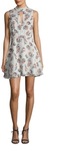 Lucca Couture Women's Mockneck Cut-Out Flare Dress