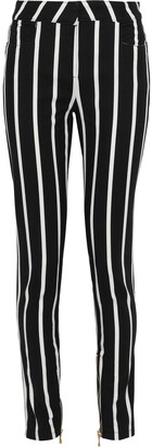 Balmain Striped Mid-rise Skinny Jeans