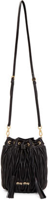 Miu Miu Black Quilted Bucket Bag
