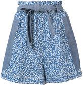 Ulla Johnson floral belt shorts