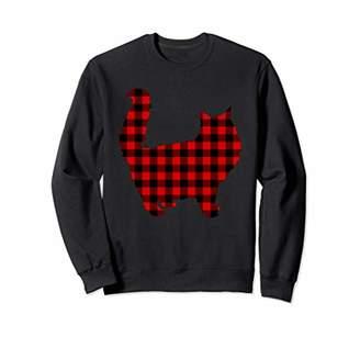 Buffalo David Bitton Persian Cat Red Plaid Kitty Matching Family PJ Gift Sweatshirt