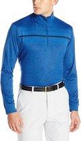 PGA TOUR Men's Golf Performance Long Sleeve Heathered Brushed 1/4 Zip Sweater