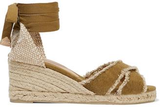 Castaner Bluma Frayed Cotton-canvas Espadrille Wedge Sandals