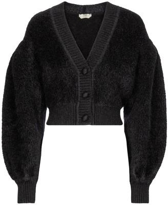 Fendi Cropped mohair-blend cardigan