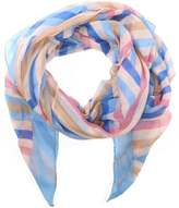 Daniel Light Weight Blue Stripe Print Scarf