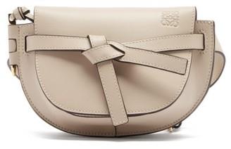 Loewe Gate Mini Leather Belt Bag - Womens - Grey