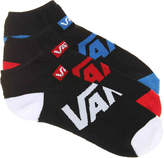 Vans Men's Solid No Show Socks - 3 Pack -Black