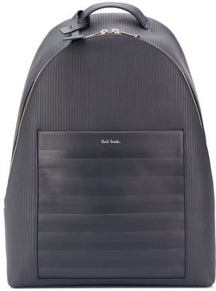 Paul Smith Ribbed Branded Backpack
