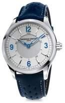Frederique Constant Horological Porous Leather Strap Smart Watch