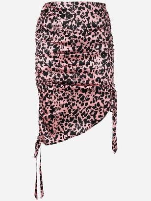 Laneus Leopard Print Skirt