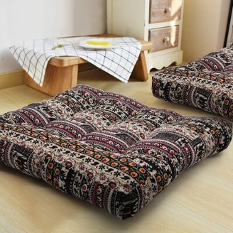 Bungalow Rose Boho Indoor/Outdoor Seat Cushion Fabric: Boho Coffee