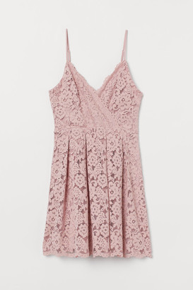 H&M Short Lace Dress - Pink