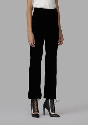 Giorgio Armani Cropped Trousers In Velvet