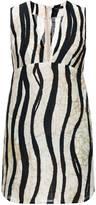 Leka Zebra Print Mini Dress