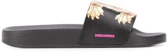 DSQUARED2 Tiger Print Slides