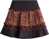 Diane von Furstenberg Mixed-Media Mini-Skirt