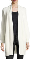 1 STATE 1.STATE Open-Front Cable-Back Cardigan, Off White