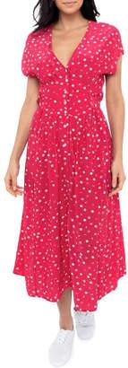 Jump Etched Spot Maxi Dress