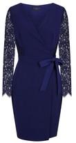 Dorothy Perkins Womens Paper Dolls Navy Lace Wrap Midi Dress