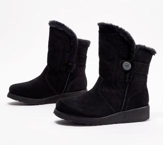 Skechers Suede Keepsakes Wedge Mid-Boots- Cozy Peak