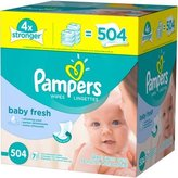 Pampers Baby Fresh Baby Wipes 504 sheets by